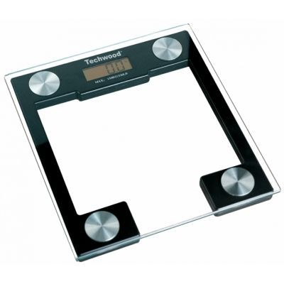 TECHWOOD - Pèse-personne-TECHWOOD-Pèse-personne LCD en verre