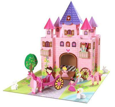 KROOOM-EXKLUSIVES FUR KIDS - Château fort-KROOOM-EXKLUSIVES FUR KIDS-Château de princesse trinny en carton recyclé 73x5