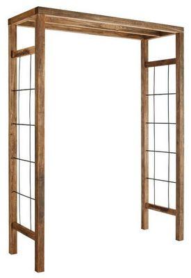 JARDIPOLYS - Arche-JARDIPOLYS-Pergola Ikebana en Pin traité et Acier 160x60x214c