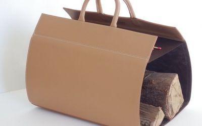 PHILIPPE GRANET - Porte-buches-PHILIPPE GRANET-en cuir caramel