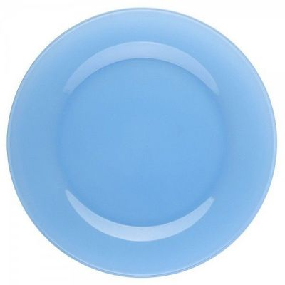 La Chaise Longue - Assiette plate-La Chaise Longue-Assiette � dessert en verre bleue