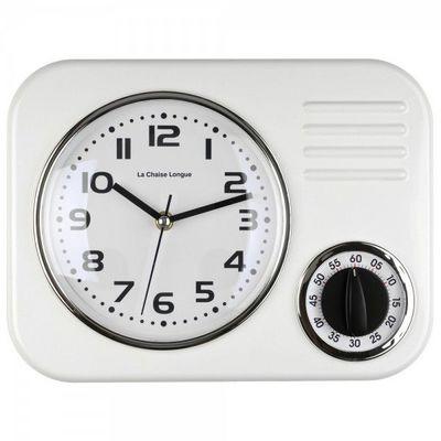 La Chaise Longue - Minuteur-La Chaise Longue-Horloge minuteur blanc
