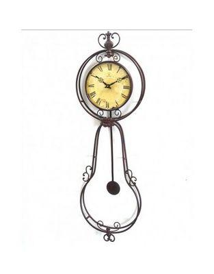 L'HERITIER DU TEMPS - Horloge murale-L'HERITIER DU TEMPS-Pendule Murale Balancier Vieillie 25cm