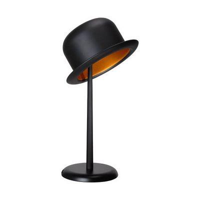 La Chaise Longue - Lampe à poser-La Chaise Longue-Lampe chapeau melon noir