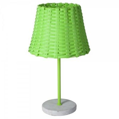 La Chaise Longue - Lampe à poser-La Chaise Longue-Lampe tressée verte