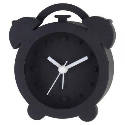 La Chaise Longue - Réveil matin-La Chaise Longue-Réveil rétro silicone noir