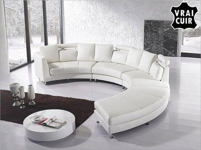 BELIANI - Canap� modulable-BELIANI-Sofa en cuir