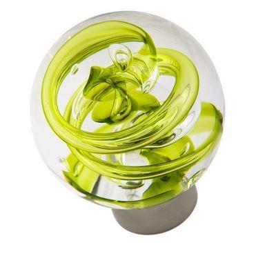 Les Verreries De Brehat - Bouton de porte-Les Verreries De Brehat-Tubes de bulles sphérique vert