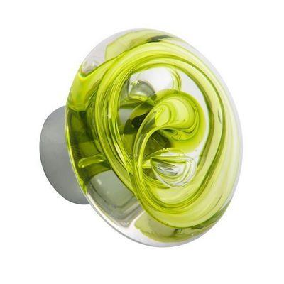 Les Verreries De Brehat - Bouton de porte-Les Verreries De Brehat-Tubes de bulles disque vert