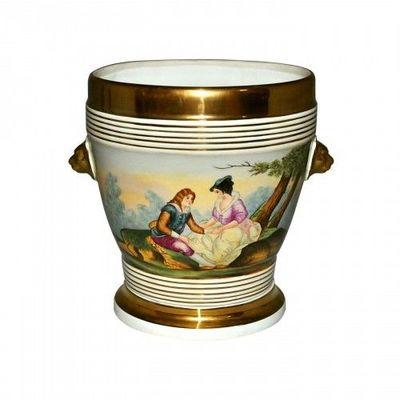 Demeure et Jardin - Cache-pot-Demeure et Jardin-Cache pot style Louis Philippe