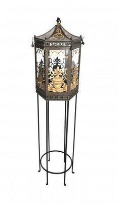 Demeure et Jardin - Lanterne d'extérieur-Demeure et Jardin-Lanterne tôle peinte  sur pied forme pagode