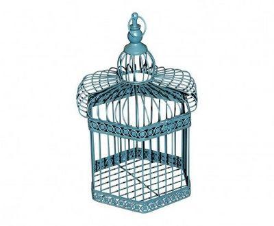 Demeure et Jardin - Cage à oiseaux-Demeure et Jardin-Cage Décorative Bleue