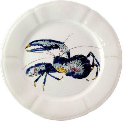 Gien - Assiette plate-Gien-Hors d'oeuvre Homard