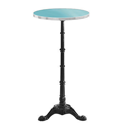 Ardamez - Mange debout-Ardamez-Mange debout �maill� rond / table haute / turquois