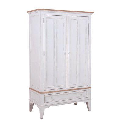 Interior's - Armoire à portes battantes-Interior's-Armoire blanche 2 portes 1 tiroir