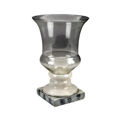 Interior's - Vase décoratif-Interior's-Vase à pied blanc