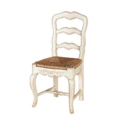 Interior's - Chaise paillée-Interior's-Lot de 2 chaises assise paillée