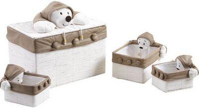 Aubry-Gaspard - Coffre à jouets-Aubry-Gaspard-Coffre à jouet en osier blanc