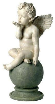 Antic Line Creations - Statuette-Antic Line Creations-Statuette Ange Bisous en r�sine