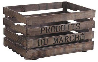Aubry-Gaspard - Caisse de rangement-Aubry-Gaspard-Caisse en bois Produits du marché