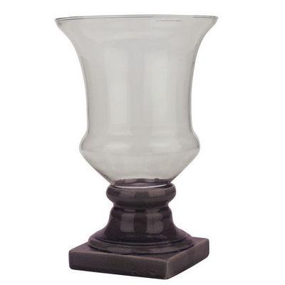 Interior's - Vase à fleurs-Interior's-Vase sur pied aubergine GM