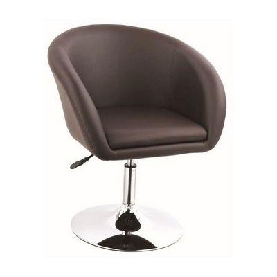 WHITE LABEL - Fauteuil rotatif-WHITE LABEL-Fauteuil lounge pivotant cuir marron