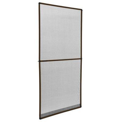 WHITE LABEL - Moustiquaire de fen�tre-WHITE LABEL-Moustiquaire pour porte cadre fixe en aluminium 95x210 cm blanc
