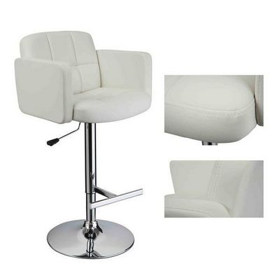 WHITE LABEL - Chaise haute de bar-WHITE LABEL-2 tabourets de bar ergonomique cuir PU