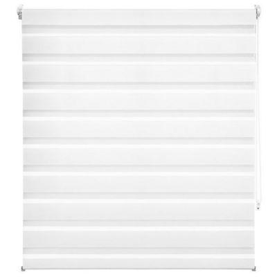 WHITE LABEL - Store enrouleur-WHITE LABEL-Store enrouleur blanc 116 x 120 cm