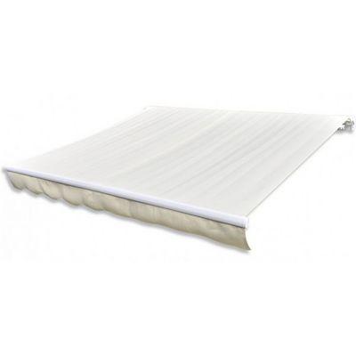 WHITE LABEL - Store banne-WHITE LABEL-Store banne manuel de jardin rétractable 6 x 3 m auvent tonnelle pavillon