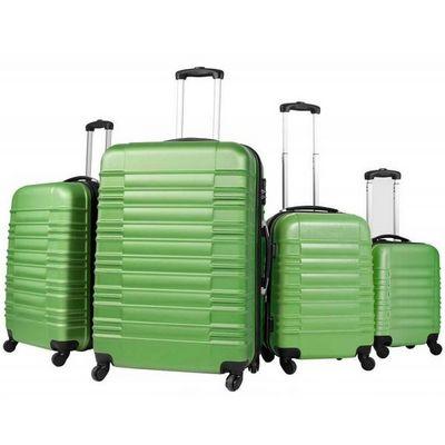WHITE LABEL - Valise à roulettes-WHITE LABEL-Lot de 4 valises bagage ABS vert