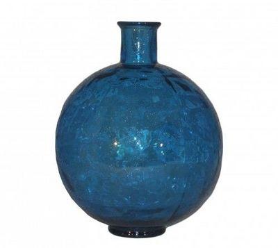 Demeure et Jardin - Soliflore-Demeure et Jardin-Vase Boule en verre bleu turquoise