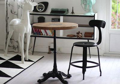 Ardamez - Table bistrot-Ardamez-Table de bistrot massif ch�ne / Bois / Email