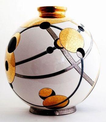 Emaux De Longwy - Vase décoratif-Emaux De Longwy