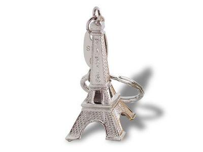 WHITE LABEL - Porte-clés-WHITE LABEL-Accroche-clés Tour Eiffel argenté objet deco maiso