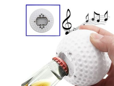 WHITE LABEL - D�capsuleur-WHITE LABEL-Ouvre-bouteille balle de golf sonore d�capsuleur d