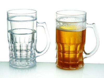 WHITE LABEL - Chope-WHITE LABEL-Mug rafraichissant pour bi�re 400 ml shooter insol