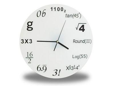 WHITE LABEL - Horloge murale-WHITE LABEL-Horloge horaire avec symbole scientifiques deco ma