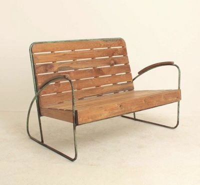 Mathi Design - Banc-Mathi Design-Banc vintage bois et metal