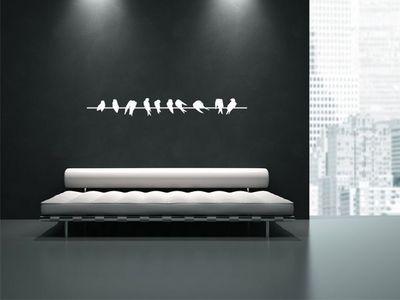 WHITE LABEL - Sticker-WHITE LABEL-Sticker Mural Oiseaux 01