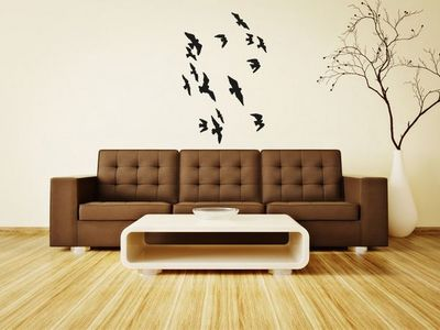 WHITE LABEL - Sticker-WHITE LABEL-Sticker Mural Oiseaux 02