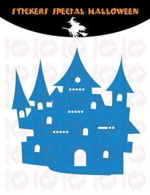 WHITE LABEL - Sticker-WHITE LABEL-Sticker Château Hanté d'Halloween