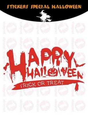 WHITE LABEL - Sticker-WHITE LABEL-Sticker Happy Halloween
