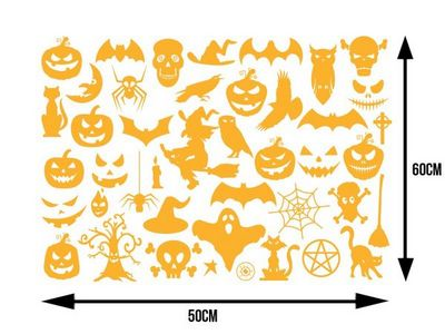 WHITE LABEL - Sticker-WHITE LABEL-Planche de plus de 40 stickers pour Halloween