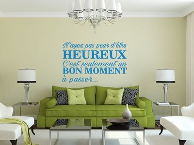WHITE LABEL - Sticker-WHITE LABEL-Sticker n'ayez pas peur d'�tre heureux...