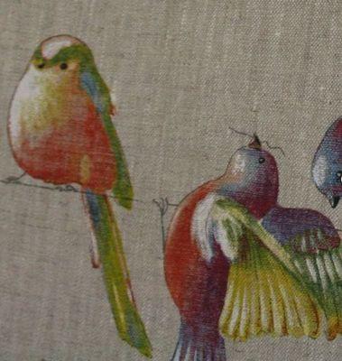 Le Quartier des Tissus - Tissu imprimé-Le Quartier des Tissus-Lin Happy Birds
