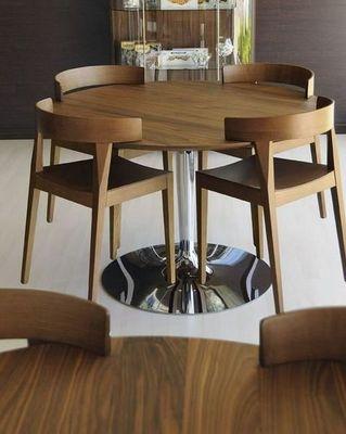 Calligaris - Table de repas ronde-Calligaris-Table repas ronde PLANET de CALLIGARIS 120x120 noy