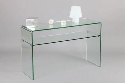 WHITE LABEL - Console-WHITE LABEL-Console IRIS en verre