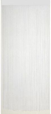 Aubry-Gaspard - Rideaux prêts à poser-Aubry-Gaspard-Rideau fil de porte en polyester Blanc