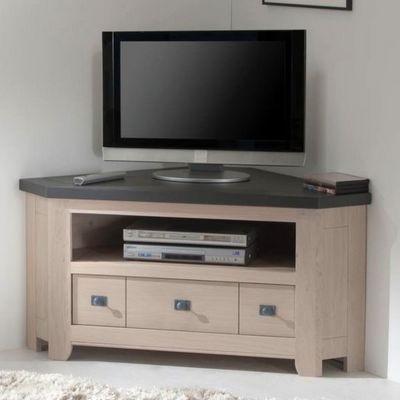 Ateliers De Langres - Meuble tv hi fi-Ateliers De Langres-Meuble TV d'angle WHITNEY